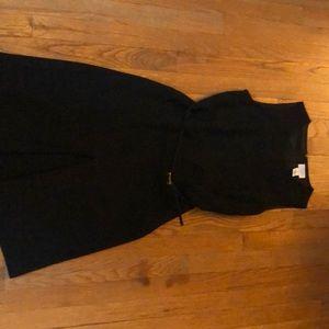 Belted sleeveless dress